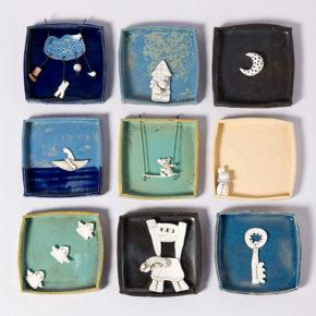 Memories, 2016, stoneware, porcelain,underglazes, glazes, oxydes. Handbuilt.