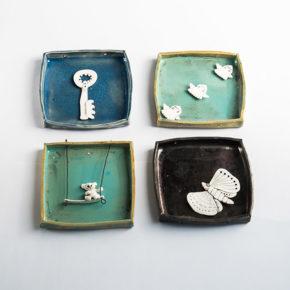 Memories (fragment), 2016, stoneware, porcelain, glazes.